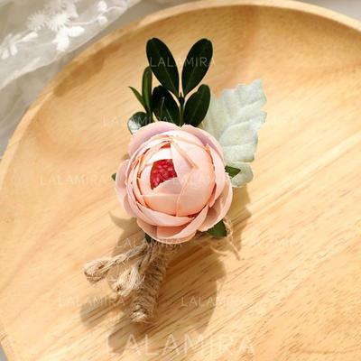 "Wrist Corsage/Boutonniere Wedding Linen Rope/Linen B:2.36"" (Approx.6cm) 4.73"" (Approx.12cm) Wedding Flowers (123190619)"
