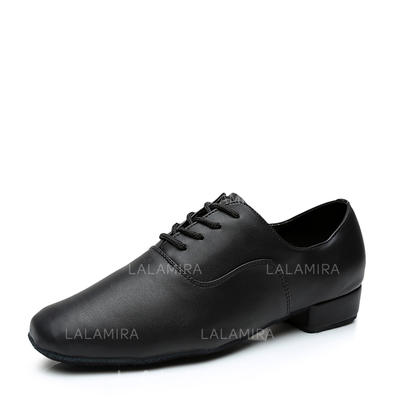 Men's Ballroom Leatherette With Lace-up Dance Shoes (053181344)
