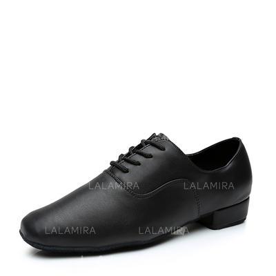 De los hombres Sala de Baile Cuero con Cordones Zapatos de danza (053107717)