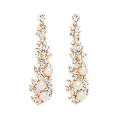 Earrings Alloy/Pearl/Rhinestones Pierced Ladies' Pretty Wedding & Party Jewelry (011161496)