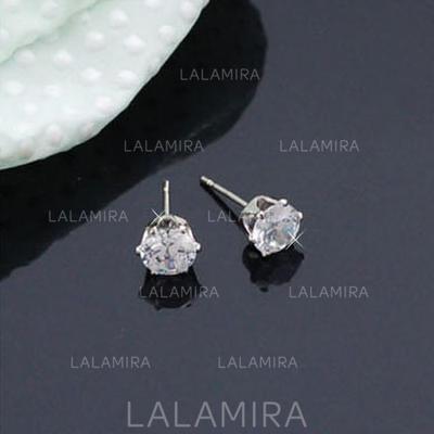 Earrings Alloy/Zircon Pierced Ladies' Shining Wedding & Party Jewelry (011168067)