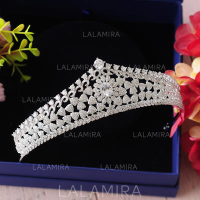 Tiaras Wedding/Special Occasion/Casual/Outdoor/Party/Carnival/Art photography Zircon Beautiful Ladies Headpieces (042159456)