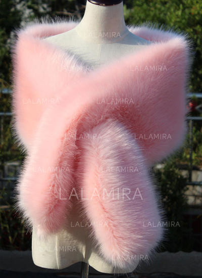 Wrap Wedding Feather/Fur Sleeveless Black Royal Blue White Red Candy Pink Dusk Wraps (013150380)