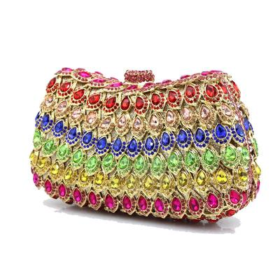 Clutches/Wristlets Wedding/Ceremony & Party Acrylic/PU Clip Closure Charming Clutches & Evening Bags (012186519)