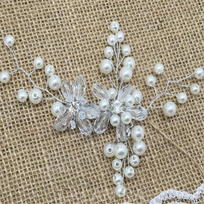 Kaunis Kristalli/Tekojalokivi/Valetaskua helmi Barrettes (Myyty yhtenä palana) (042137976)