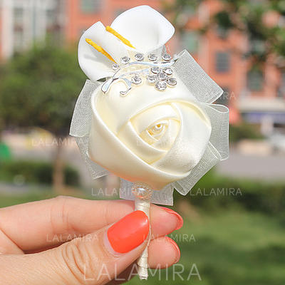 "Boutonniere Free-Form Wedding/Party Satin 2.76""(Approx.7cm) Wedding Flowers (123190133)"