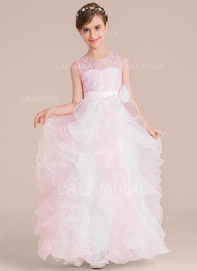 Ball Gown Floor-length Organza Flower Girl Dress