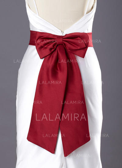 Women Satin With Bow Sash Simple Sashes & Belts (015190902)
