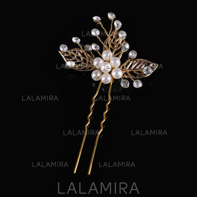 """Hairpins Wedding/Party Crystal/Alloy/Imitation Pearls 3.94""""(Approx.10cm) 2.56""""(Approx.6.5cm) Headpieces (042158163)"""