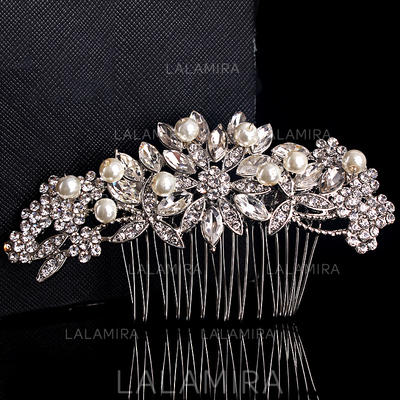 Combs & Barrettes Wedding/Outdoor/Party Crystal/Imitation Pearls Charming Ladies Headpieces (042157316)