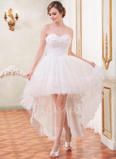 Sin mangas General Grande Corazón con Tul Vestidos de novia (002055208)