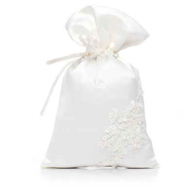 Bridal Purse Wedding Satin Tether closure Lovely Clutches & Evening Bags (012184494)