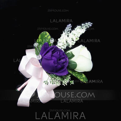 "Boutonniere Free-Form Wedding/Party Satin/Cotton 5.91""(Approx.15cm) Wedding Flowers (123188201)"