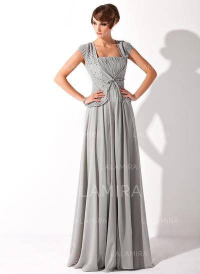Glamorous Floor-Length A-Line/Princess Chiffon Mother of the Bride Dresses (008211193)