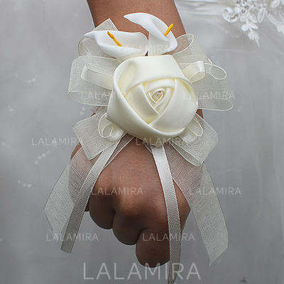 "Wrist Corsage Free-Form Wedding/Party Satin 2.76""(Approx.7cm) Wedding Flowers (123190147)"