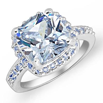 Rings Zircon/Platinum Plated Ladies' Gorgeous Wedding & Party Jewelry (011166714)