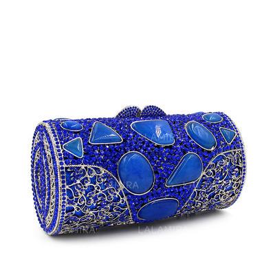 Bolso de la almohadilla Cristal / Diamante Bolso Claqué/Bolso de Lujo (012114186)
