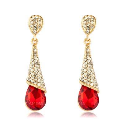 Earrings Alloy/Rhinestones/Crystal Pierced Ladies' Unique Wedding & Party Jewelry (011166622)