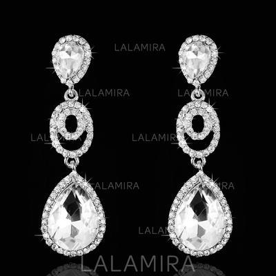 Pendientes Diamantes de imitación Perforado Señoras' Elegante Joyas de boda & fiesta (011074696)