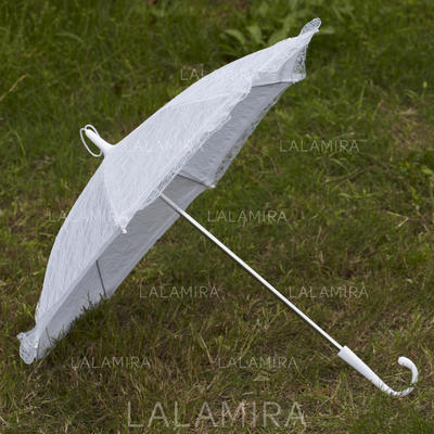Wedding Umbrellas Bridal Parasols Women's Wedding Hook Handle Wedding Umbrellas (124148578)