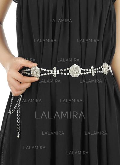 Women Alloy With Rhinestones Belt Stylish Sashes & Belts (015191372)