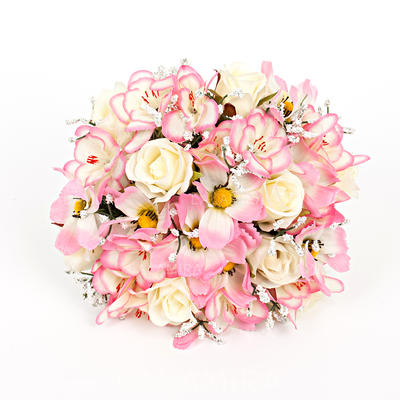 """Bridal Bouquets Round Wedding/Party Artificial Silk 9.84""""(Approx.25cm) Wedding Flowers (123188760)"""