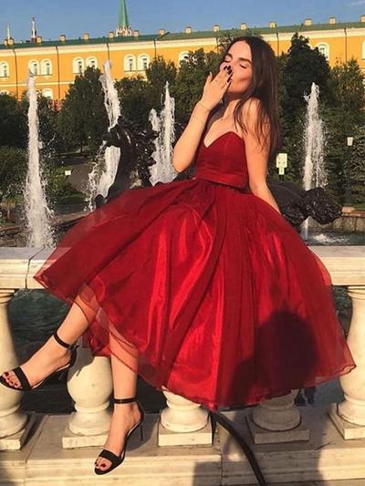 Plissé Amoureux avec Organza Robes de cocktail (016219360)