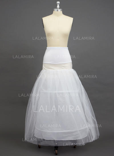 Petticoats Floor-length Tulle Netting/Polyester/Spandex A-Line Slip 2 Tiers Petticoats (037190735)