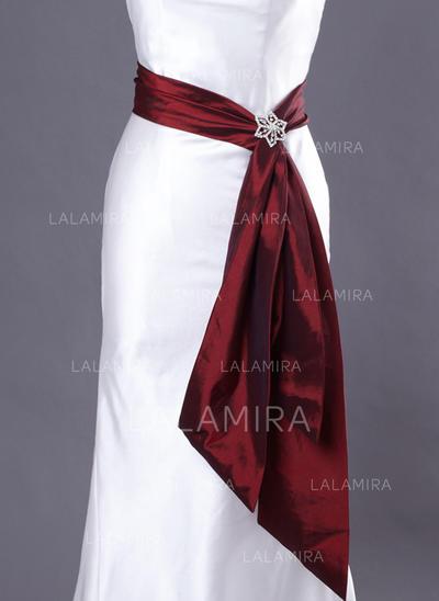 Women Taffeta With Beading Sash Simple Sashes & Belts (015190947)