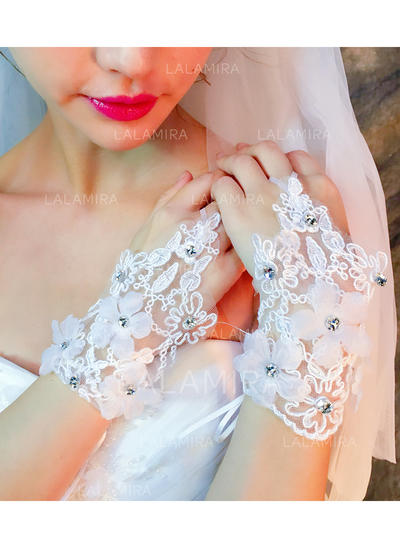 Lace Ladies' Gloves Wrist Length Bridal Gloves Fingerless Gloves (014192174)