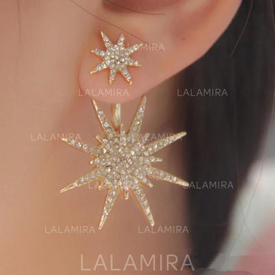 Earrings Alloy/Rhinestones Pierced Ladies' Shining Wedding & Party Jewelry (011168063)