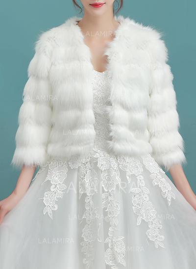 Wrap Wedding Faux Fur Ivory Wraps (013150310)