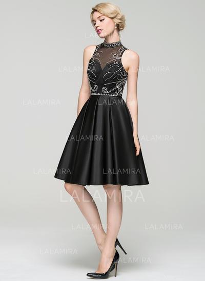 Moderno Vestidos princesa/ Formato A Gola alta Geral Mais com Vestidos de cocktail (016094599)