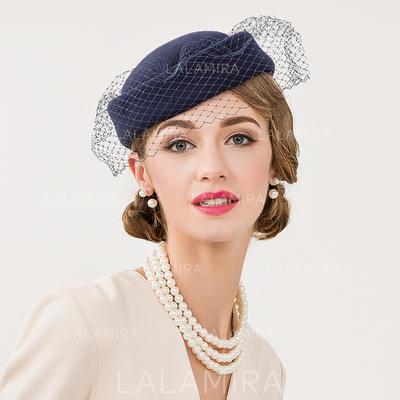 Wool With Tulle Fascinators Vintage Ladies' Hats (196194354)