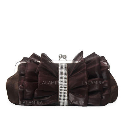 Clutches Wedding/Ceremony & Party Silk Kiss lock closure Lovely Clutches & Evening Bags (012185096)
