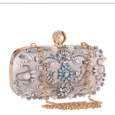 "Clutches/Satchel Wedding/Ceremony & Party Crystal/ Rhinestone/PU/Imitation Pearl Gorgeous 7.48""(Approx.19cm) Clutches & Evening Bags (012187232)"