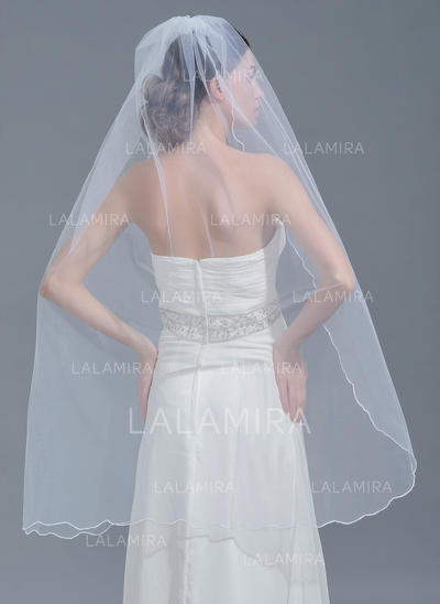 Waltz Bridal Veils Tulle One-tier Classic With Scalloped Edge Wedding Veils (006152221)