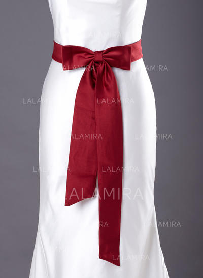 Women Satin With Bow Sash Simple Sashes & Belts (015190903)