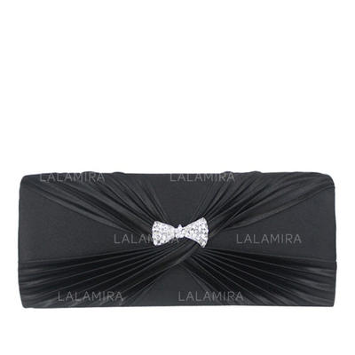 Clutches Wedding/Ceremony & Party Satin Magnetic Closure Fashional Clutches & Evening Bags (012183962)