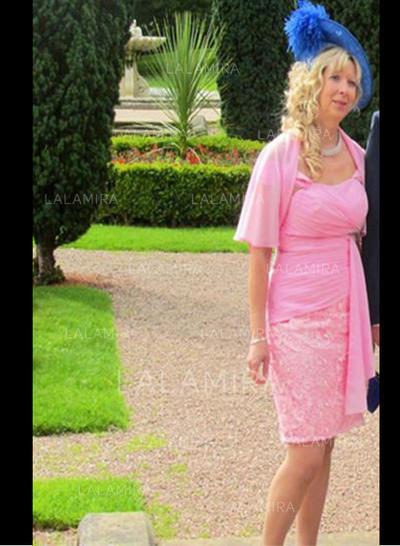 Forme Fourreau Col rond Dentelle Renversant Robes mère de la mariée (008212707)