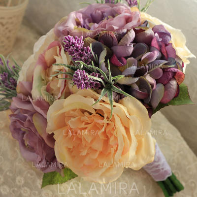 Bridal Bouquets/Bridesmaid Bouquets Round Wedding Satin The color of embellishments are shown as picture/Color & Style representation may vary by monitor Wedding Flowers (123189058)