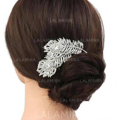 "Combs & Barrettes Wedding/Casual/Party/Art photography Rhinestone 3.74""(Approx.9.5cm) 2.36""(Approx.6cm) Headpieces (042159119)"