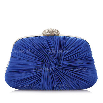 Clutches Wedding/Ceremony & Party Satin Clip Closure Unique Clutches & Evening Bags (012184983)