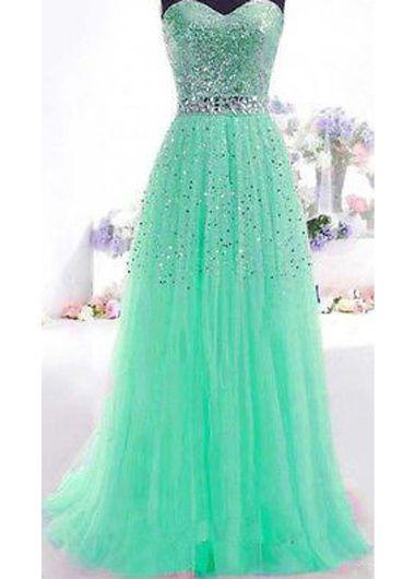 A-Line/Princess Sweetheart Floor-Length Prom Dresses With Beading Sequins (018196653)