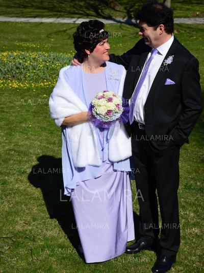 Forme Princesse Col rond Mousseline Raffiné Robes mère de la mariée (008212796)