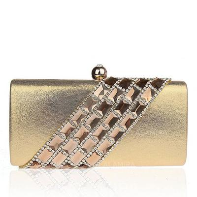 Clutches Wedding/Ceremony & Party/Office & Career Satin Clip Closure Gorgeous Clutches & Evening Bags (012184276)