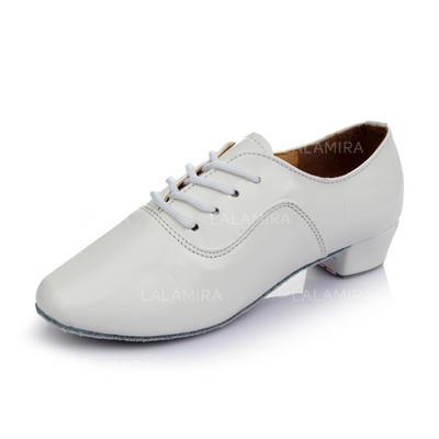 De los hombres Entrenamiento Tacones Cuero con Cordones Zapatos de danza (053053123)