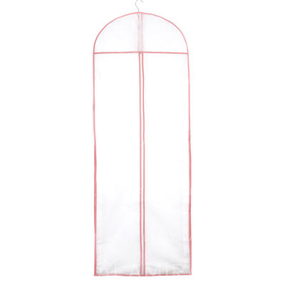 Garment Bags Gown Length Center Zip Tulle/Nonwoven Fabric White Wedding Garment Bag (035192272)