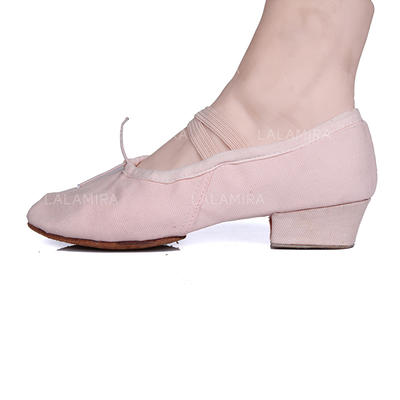 Women's Ballet Pumps Fabric With Bowknot Dance Shoes (053180967)