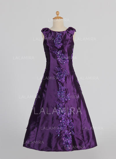 Taffeta A-Line/Princess Lace/Beading/Sequins Stunning Flower Girl Dresses (010005341)